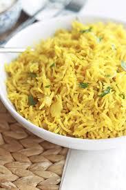 cuisine riz riz pilaf au curcuma riz épicé indien cuisine culinaire