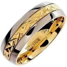 titanium wedding rings philippines mens 18k gold tone titanium classic wedding ring
