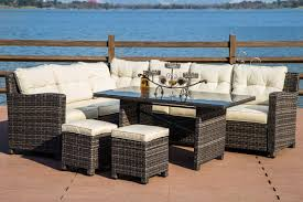 Monte Carlo Dining Room Set by Monte Carlo All Weather Wicker Sofa Sectional Patio Dining Set