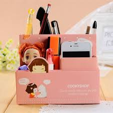 papeterie bureau kawaii bricolage papier boîte de rangement fille bureau maquillage