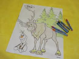 frozen coloring page color sven and olaf the snowman in fast