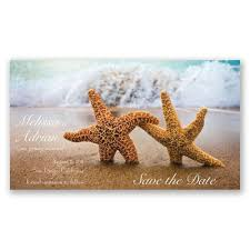 destination wedding save the dates starfish save the date invitations by