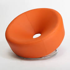 Round Armchairs Modern Round Orange Accent Chair Modern Armchairs And Accent With