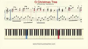 how to play piano christmas variations