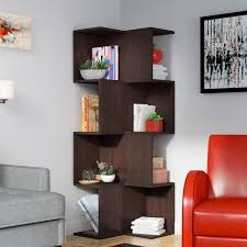 Corner Unit Bookcase Latitude Run Knoxville Corner Unit Bookcase Reviews Wayfair