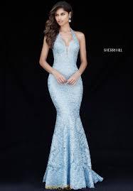 blue dress sherri hill dress 51616 peachesboutique
