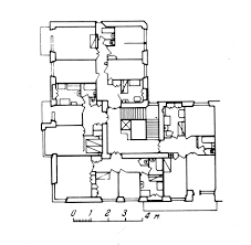 gosstrakh apartment block moscow 1926 plan of first and second
