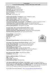 je serai absente du bureau vocabulaire allemand le courrier électronique die e mails