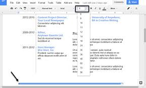 resume font and size 2015 videos how to make a professional resume in google docs