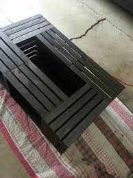 Diy Wood Crate Coffee Table by 16 Best Wood Crate Coffee Tables Images On Pinterest Crate