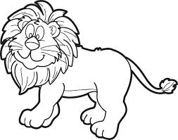 free printable cartoon male lion coloring kids