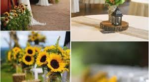 sunflower wedding decorations sunflower wedding decorations ideas for favors and best