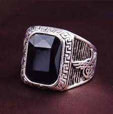 aliexpress buy mens rings black precious stones real 74 best silver men s rings images on rings men rings