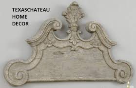 xl distressed farmhouse gray wood wall plaque scroll art french