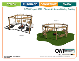 Firepit Swing by Ozco Project Fire Pit All Around Swing Seating 576 By Ozco