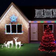 outdoor house christmas lights how much does it cost to run your christmas lights festive lights