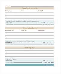 Counseling Treatment Plan Goals 29 Free Treatment Plan Templates Free Premium Templates