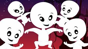 five naughty ghosts scary nursery rhymes for children youtube