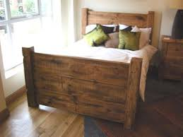 375 handcrafted chunky reclaimed wooden king size bed frame home