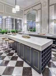 living marble modern kitchen furniture for a luxurious appearance