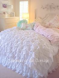 White Ruffle Duvet French Bella White Ruffles Comforter With Ruffled King Shams