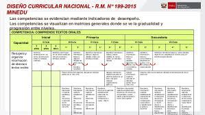 199 2015 minedu matriz de diseño curricular nacional modificación
