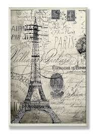 Home Decor Paris Theme Amazon Com The Stupell Home Decor Collection Paris A Vintage Wall