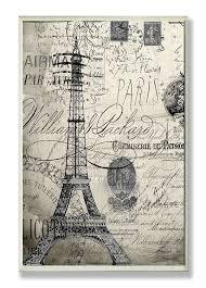 Eiffel Tower Home Decor Amazon Com The Stupell Home Decor Collection Paris A Vintage Wall