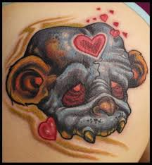 bear monkey skull tattoo