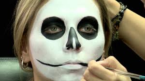 Halloween Skull Face Makeup by Skull Face For Halloween Makeup Tutorial Cirque Du Soleil