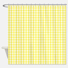 Yellow And White Shower Curtain Gingham Shower Curtains Cafepress