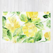Flower Area Rug Yellow Floral Area Rug Yellow Area Rug Flower Area Rug