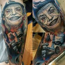 joker tattoo addition to my leg sleeve by jared archuleta of
