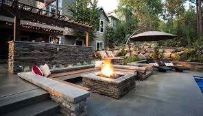concrete backyard design ideas about stamped patios photo with