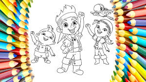 how to draw jake and the neverland pirates rainbow coloring page