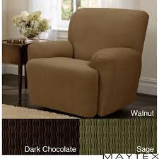 furniture good brown recliner slipcover and armchair recliner