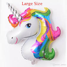 unicorn party supplies large 118 90cm rainbow unicorn party supplies foil balloons kids