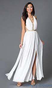 simple long white dress dress yp