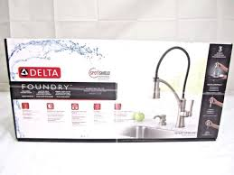 kitchen faucet pull delta foundry single handle pull sprayer kitchen faucet with