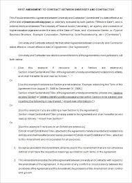 3 contract amendment templates free word pdf documents