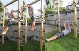 build backyard pull up bar home outdoor decoration