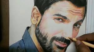 drawing john abraham youtube