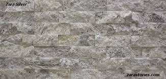 Split Face Stone Backsplash by Zara Silver Splitface Travertine Veneer Is An Innovative Approach