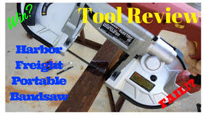 Bench Mounted Band Saw - review of harbor freight portable bandsaw and the easiest bandsaw