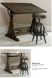 Desk With Drafting Table Hand Made Industrial Drafting Desk With Reclaimed Wood Top Stand