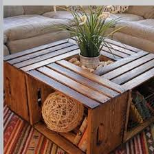 wine crate coffee table diy wooden crate box coffee table with a plant centre doin it
