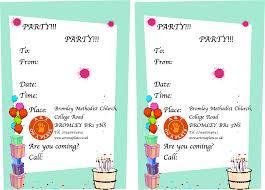 invitation card birthday party choice image invitation design ideas