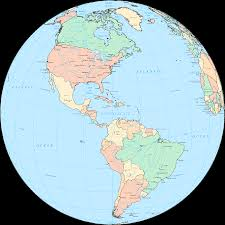 Map Of North America And Central America by Central America Globe U2022 Mapsof Net