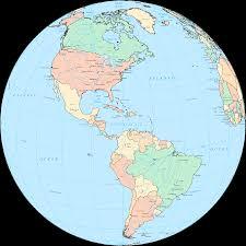 North America And Central America Map by Central America Globe U2022 Mapsof Net