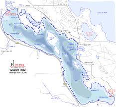 grand map grand lake map presque isle county michigan fishing michigan